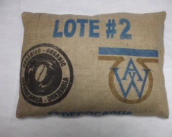 Recycled Coffee Sack Cushion