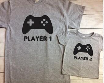 Daddy Son Matching Shirts - Gamer Dad Gamer Kid Matching Shirts - Video Gamer - Father Son Shirts - Father Daughter Shirts - Father's Day