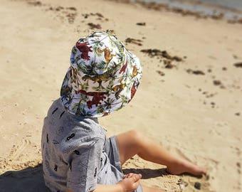 kids summer hat,boys bucket hat,baby sun protection,boys beach hat,dinosaur sun hat,boys birthday gift,kids sun hats,wide brim hat,sun hats