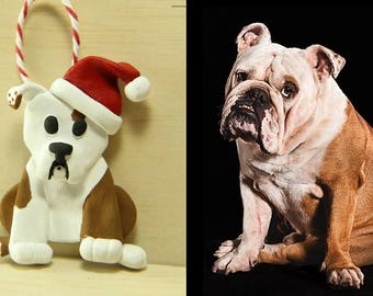 Custom Dog Christmas Ornaments - Polymer Clay