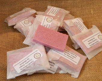 50 Peony Goats Milk Soap Favors for weddings showers parties pink favors