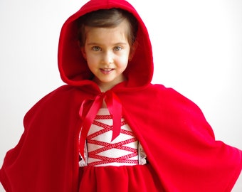 Princess or Red Riding Hood cape with hood (unlined)