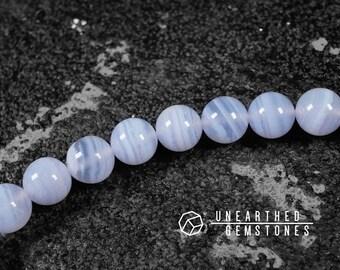 AAA Blue Lace Agate Bracelet - Gift for Mum, Blue Agate Bracelet, Blue Lace Agate Beads Bracelet, Women Bracelet