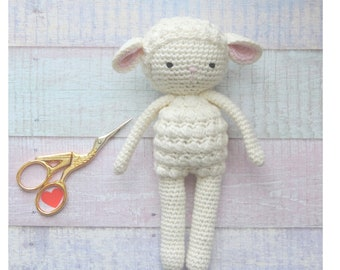 Sheep plush lamb organic cotton, sheep plush toy, handmade, cute stuffed animals