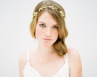 Kristall-Perlen-Haar-Rebe, Braut Stirnband, Kristall Hochzeit Stirnband, Crystal Headpiece, Blumen Braut Haar Weinstock, Natur inspiriert - Stil 608