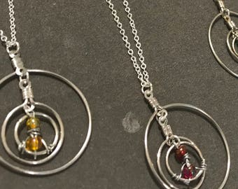 3 hooped necklace // time turner // hermione necklace (Granger)