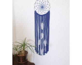 Royal Blue Wedding Decorations Large Dream Catcher Yarn Wall Hanging Crochet Dreamcatcher Bohemian Nursery Decor Macrame Wall Hanging