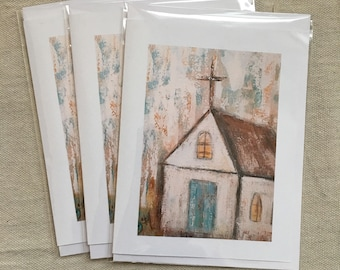 Set of 6 Abstract Fine Art Note Cards