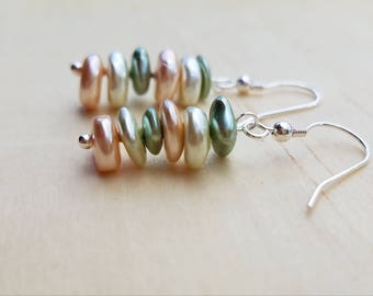 Pastel Pearlescent Chip Earrings