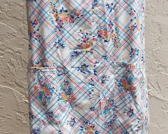 Vintage Sleeveless Floral Print and Stripe Dress by Katz