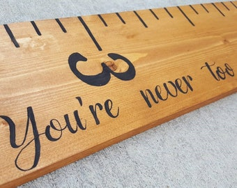 Personalized Growth Chart, Loved Beyond Measure Ruler, Wooden Growth Chart, Oversized Ruler, Kid's Room Decor