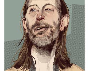 Thom Yorke Portrait Print