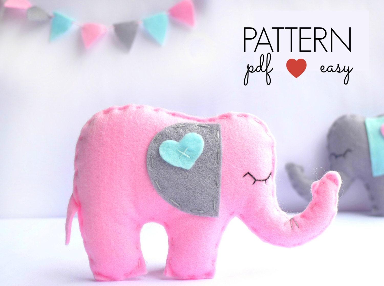 Felt elephant pattern ornament pattern stuffed elephant toy zoom bankloansurffo Images
