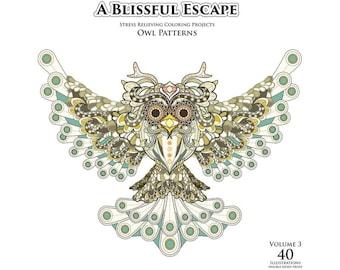 A Blissful Escape - Vol. 3 - Owl Patterns