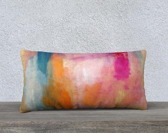 Bright Abstract long pillow cover, Lumbar Pillow, Throw Pillow, Pillow Cover, Modern Pillow Cover