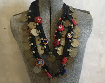 Statement coin necklace
