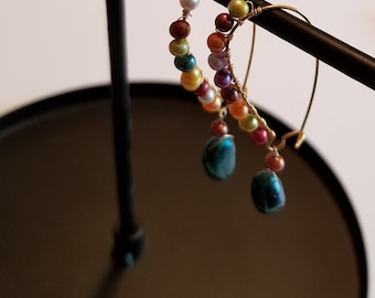 Colorful Pearl Dangles