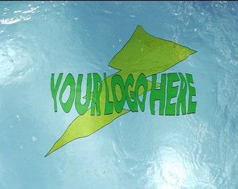 Underwater Pool Logo w/swimmer Above