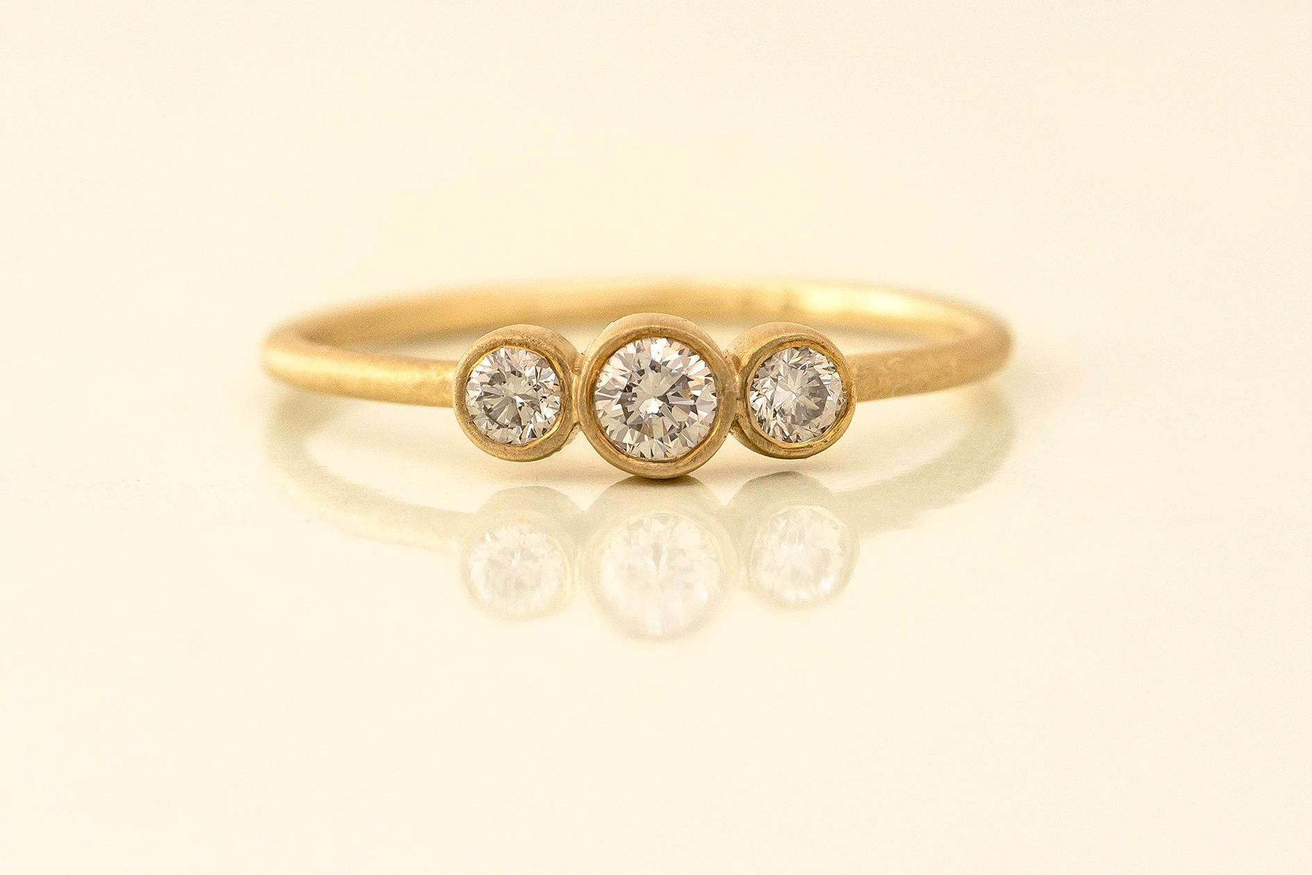 thin r collections solid gold simple products ring stacking rings textured modern original img