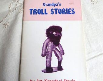 Grandpa's Troll Stories - 1975 Booklet - Scandinavian Folklore Mythology Creatures