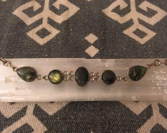 Vintage Faceted Labradorite Bracelet