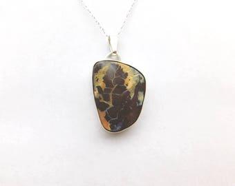 Large 51 ct. boulder opal pendant