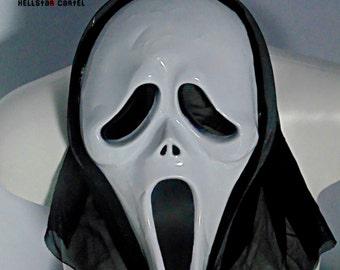 ghostface scream black horror halloween mask