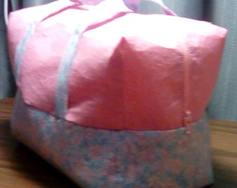 Pink and Blue Large Cosmetic Bag