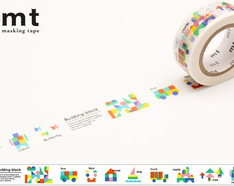 15mm width | MT for Kids - Building Block Washi Masking Tape