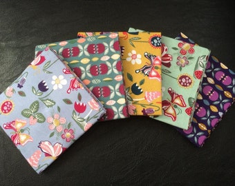 Butterfly Garden 5 piece fat quarter bundle 100% cotton