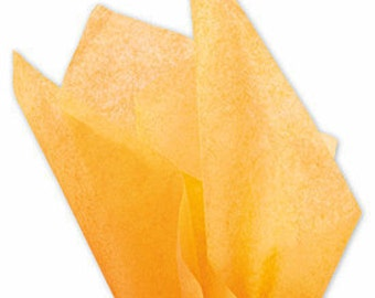 """48 sheets of APRICOT 20""""x30"""" Solid Tissue Paper"""