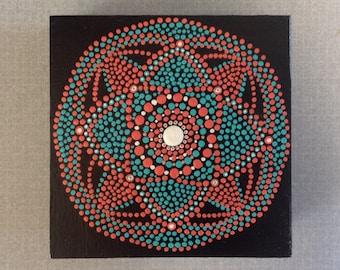 Mandala- Original 4X4 acrylic painting