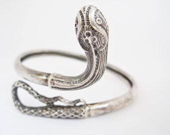 Silver Snake Bracelet Greek Snake Bracelet Sterling Silver Serpent Jewelry Snake Jewellery