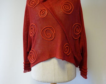 Handmade red fox coloured sweater, M size. Only one sample.