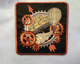Steampunk World Iron on Patch 4.3""
