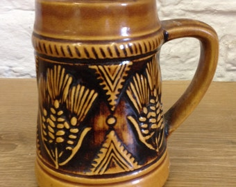 Vintage Jasba Ceramic Tankards. West German Pottery In Good Pre-Owned Condition.