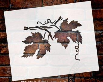 Grape Leaves Stencil - Select Size - STCL504 - By StudioR12