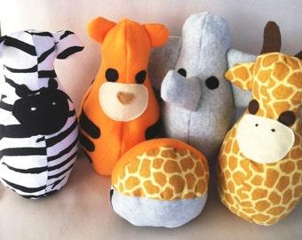 Safari Plush Bowling Set - Safari Nursery