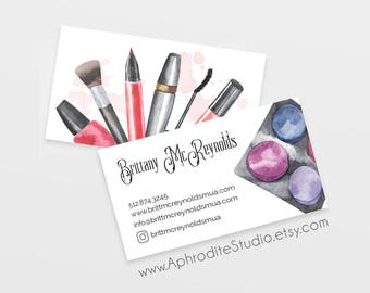 Custom make up artist business cards make up artist business cards beautician business cards printable business cards beauty salon colourmoves