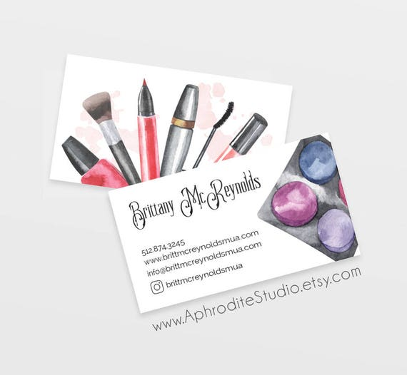 Make up artist business cards beautician business cards like this item colourmoves Image collections