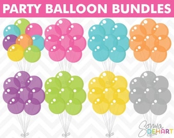 80% OFF SALE Balloon Clipart, Balloon Clip Art, Birthday Clipart, Birthday Clip Art, Vector Birthday, Digital Balloons, Digital Birthday