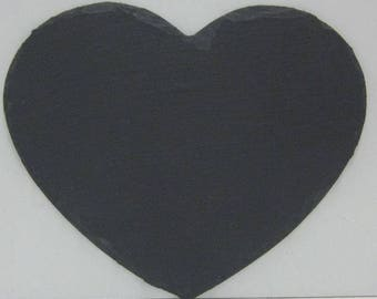 """Three (3) 10"""" x 8"""" Blank Slate Hearts for Painting Crafts & Sign Making"""