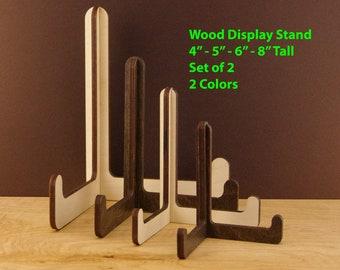 2 Wood Display Stand Easel, Wooden Easel Display Stand, Wedding Menu Holder, Rustic Wedding Sign Holder, Wooden Plate Photo Stand Easel SG04