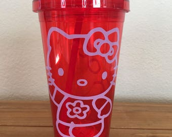 Personalized Hello Kitty Tumbler made to order