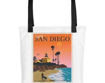 Sunny San Diego California Sunset | Tote bag