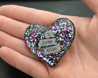 Flake Heart Magnets