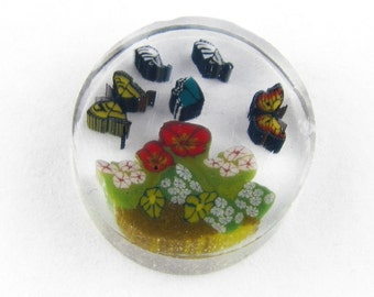 The Butterfly Garden by Greg Chase Murrine Boro Coin - 129 A