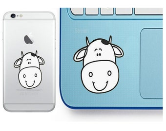Cow Decal - Cow Sticker - Laptop Decal - Cell Phone Decal - Laptop Sticker - Car Decal - Tumbler Decal