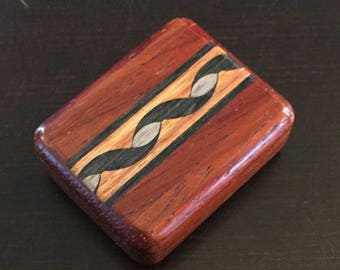 Wooden Pill Box - Mahogany & Other Woods