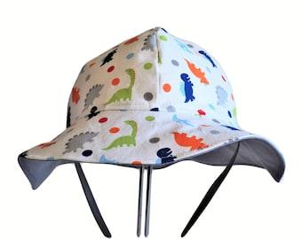 Baby Sun Hat, Dinosaur Hat, Toddler Hat, Baby Boy Sun Hat,  Cotton Hat, Summer Hat, Newborn Hat, Cotton Hat, Floppy Beach Hat, Baby Clothes